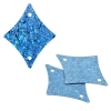Sequins Hologram 29x36mm With Hole Diamond Blue